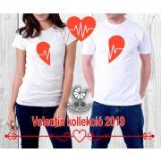 Szerelmespár póló szett (Szív1) VÁLASZTHATÓ SZÍNEK Valentin napi póló szett
