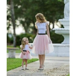 Anya lánya felső+szoknya szett