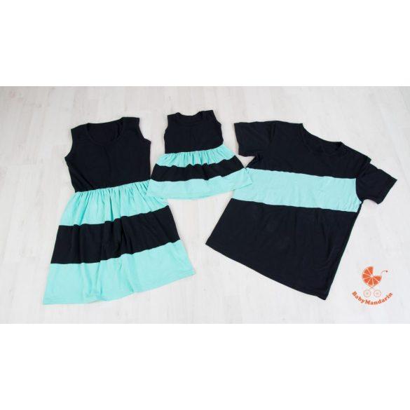 Anya-Lánya ruha - Apa póló (fekete-menta)