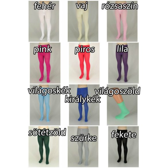 Pamut gyerek zokni, egyszínű (32-34 méret)