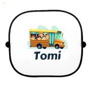 Autós napellenző egyedi névvel Iskolabusz