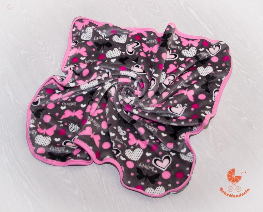 Wellsoft pihe-puha téli baba takaró - szürke alapon pillangók ... 547d5c6872