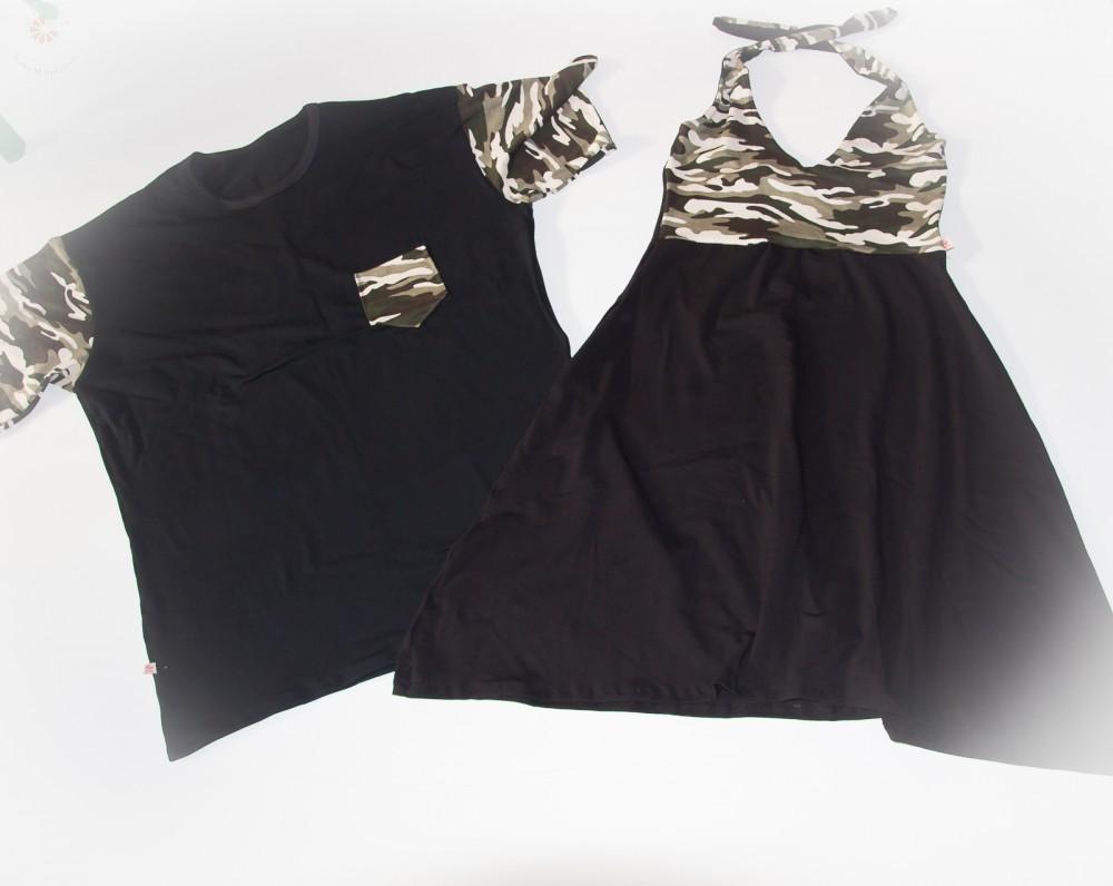 3447b2b664 Szerelmespár ruha szett (fekete-terep) - BabyMandarin - Saját ...
