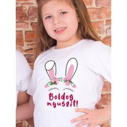 Húsvéti gyerek póló vagy body VÁLASZTHATÓ SZÍNEKBEN - Boldog nyuszit! 1