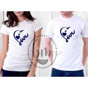 Szerelmespár póló szett (Love you forever) VÁLASZTHATÓ SZÍNEK Valentin napi póló szett