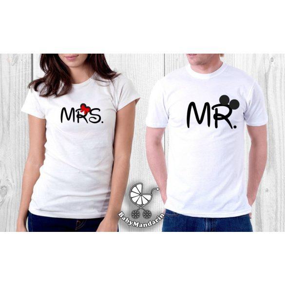 Szerelmespár póló szett (Mr és Mrs.) VÁLASZTHATÓ SZÍNEK Valentin napi póló szett