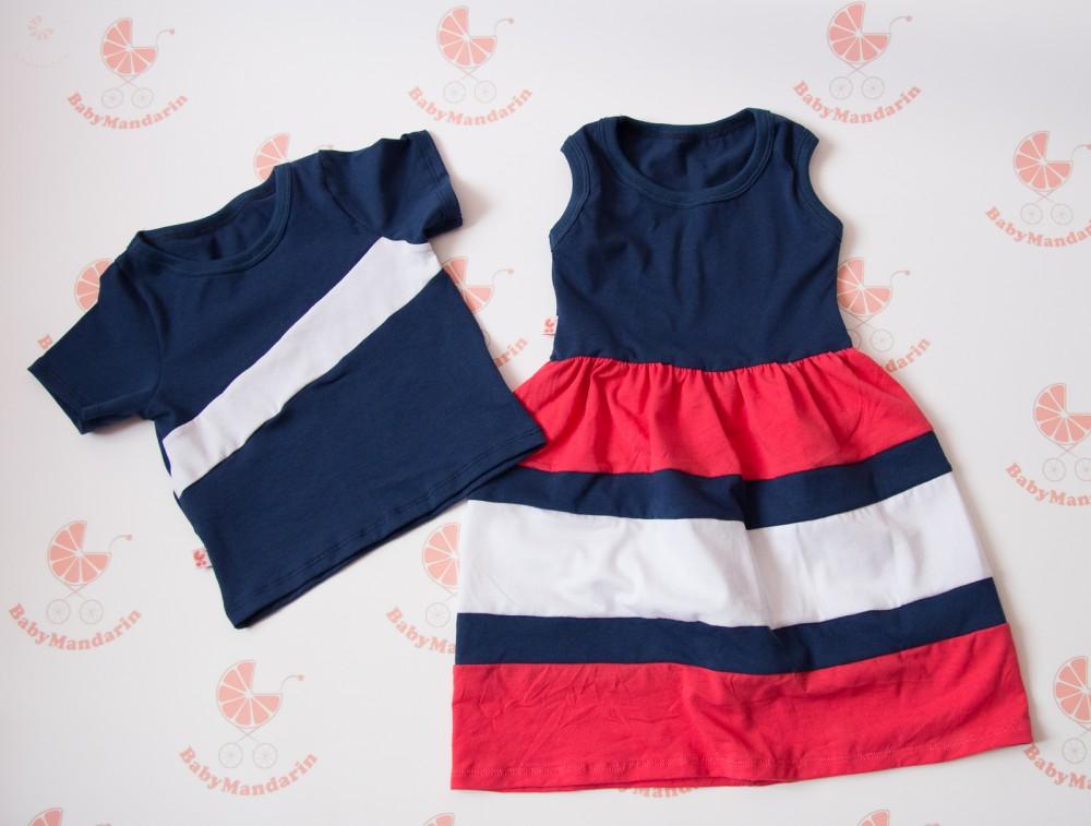 8fba8b5eca Apa lánya szett - lányos maxi ruha és apa póló - BabyMandarin ...