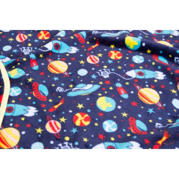 Wellsoft pihe-puha téli baba takaró  - Sötétkék,űrhajós két oldalas