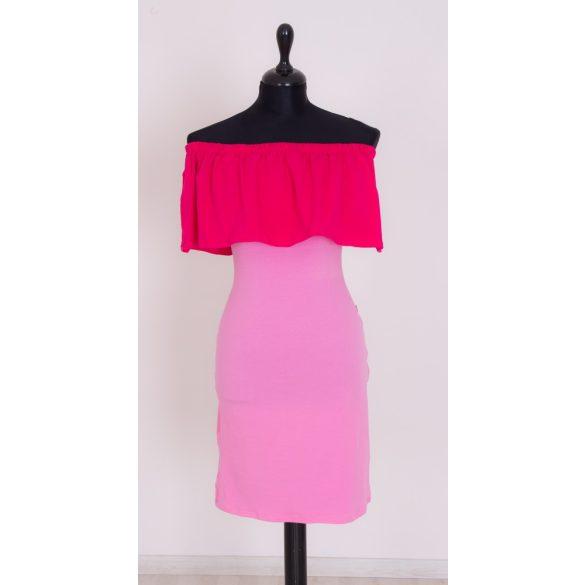 Gyerek fodros ruha, baba fodros ruha (pink-rózsaszín)
