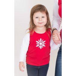 Karácsonyi gyerek felső, gyerek póló (Hópihe)