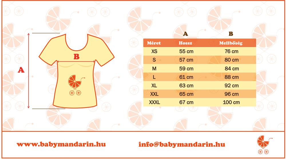 Mérettábla BabyMandarin Női póló